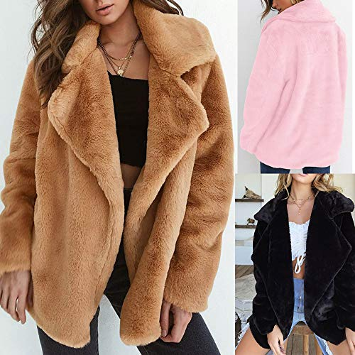 OYSOHE Collar Coat Warm Coat Brown Loose Big Fur Women Winter Outerwear Keep ZRqyFZwr