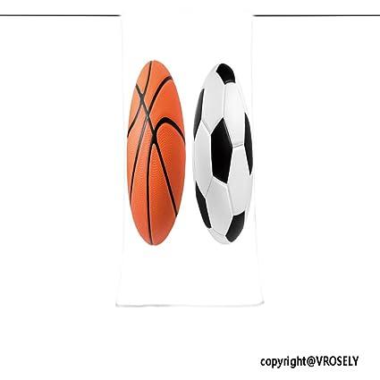 vroselv Custom toalla suave y cómodo playa towel-soccer bola y balón de baloncesto closeup
