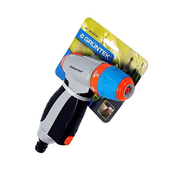 GRÜNTEK Pistola da Giardino in Metallo. Lancia da Giardino Regolabile: con polverizzatore per Fiori e Piante o Spray… 7 spesavip