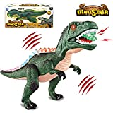 HOMOFY Walking Large Size T-Rex Dinosaur Toy with Flashing Lights & Real Roaring Glowing Eyes Best Gift Toys for Kids...