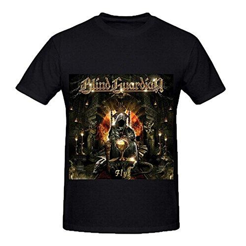 Blind Guardian Fly Hits Men O Neck Slim Fit Tee Shirts Black
