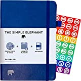 Simple Elephant Planner 2020 - Daily, Weekly, Monthly Agenda - Undated Productivity Journal - Gratitude, Life & Goal, Success (Blue)