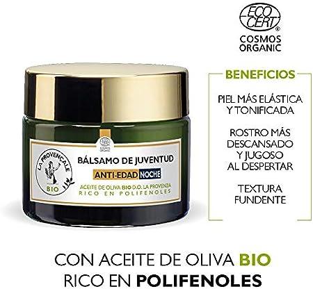 La Provençale Bio Bálsamo de Juventud Crema Antiedad Noche con Aceite de Oliva Bio - 50 ml