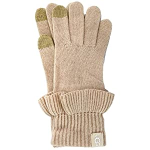 UGG Womens Ruffle Knit Tech Gloves