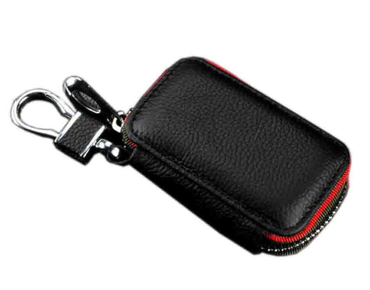 Youngate Mens PU Leather Car Key Holder Zipper Case Wallet Keychain Bag