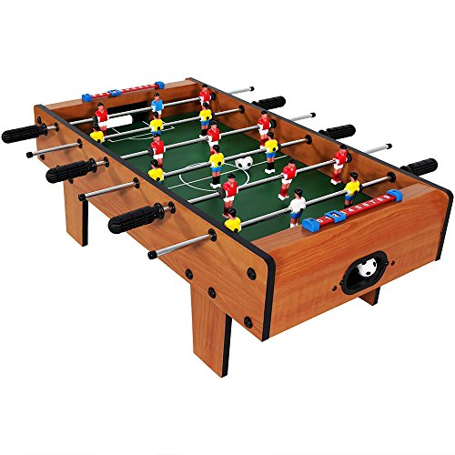 Sunnydaze 28 Inch Tabletop Foosball Table with Legs, Mini Sports Arcade Soccer for Game Room, Accessories Included