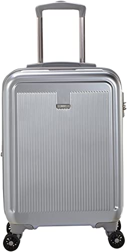 Master Massage Stanwell 20 Expandable Abs Carry-on Luggage, Silver