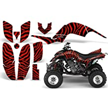 CreatorX Yamaha Raptor 660 Graphics Kit Decals Stickers Zebra Camo Red