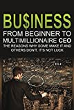 img - for Business: From Beginner to Multimillionaire CEO, the reasons why some make it an (Business books, plans, adventures, business model generation, ... business management, business communication) book / textbook / text book
