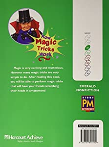Rigby PM Plus Extension: Individual Student Edition Emerald (Levels 25-26) How Magic Tricks Work
