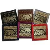 Chic Reed Collection 6-piece Coaster Set, Fancy Colors #2