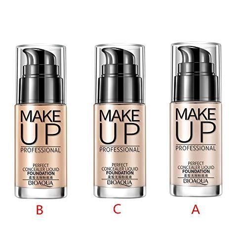 Professional Makeup Concealer Liquid Foundation Moisturizing Waterproof Concealer Cream (B) by Hometom Beauty (Image #3)