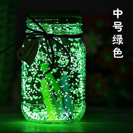 Regalo de cumpleaños resplandor solar deseando la botella botella fluorescente de la estrella botella de cristal