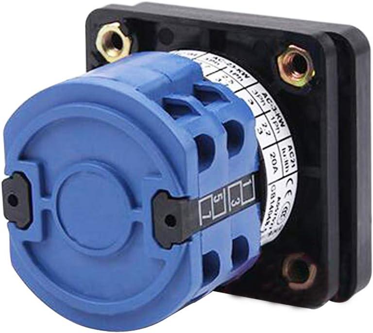Haobase AC 690V 20A 3 Position 1//0//2 Drehschalter Nockenschalter Rotary Cam Umschalter