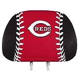 ProMark Cincinnati Reds Printed Full Color 2-Pack Head Rest Covers Elastic Auto Baseball
