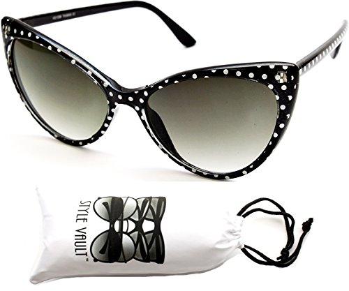 Wm501-vp Cateye Retro Classic Sunglasses (DT1596 Black, uv400)