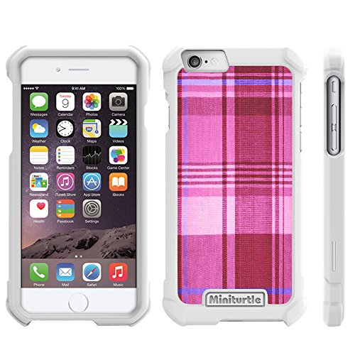 iPhone 6 Plus Phone Case, Hard Full Body Protector Phone Case - Intentio Series - with Unique, Customized Designs for Apple iPhone 6 Plus 5.5 Inches from MINITURTLE (ALL Carriers) [RETAIL-READY PACKAGING] [BONUS SCREEN PROTECTOR] | Plaid Pink
