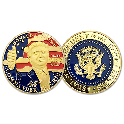 Donald Trump 45th President Challenge Coin-United States Gold Plated,A Collection Item Designed for The - Eagle Coins Bald