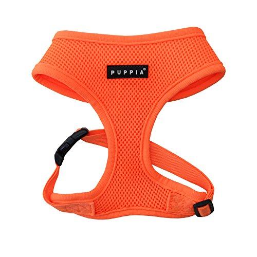 Puppia Authentic Neon Soft Harness A, Orange, Small