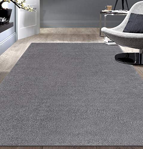 Rugshop Modern Solid Ultra Soft Shag Area Rug 5' x 7' Gray