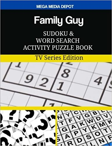amazon family guy sudoku and word search activity puzzle book tv