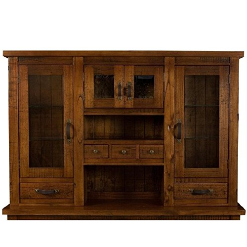Hillsdale Glass - Hillsdale Outback Hutch in Chestnut