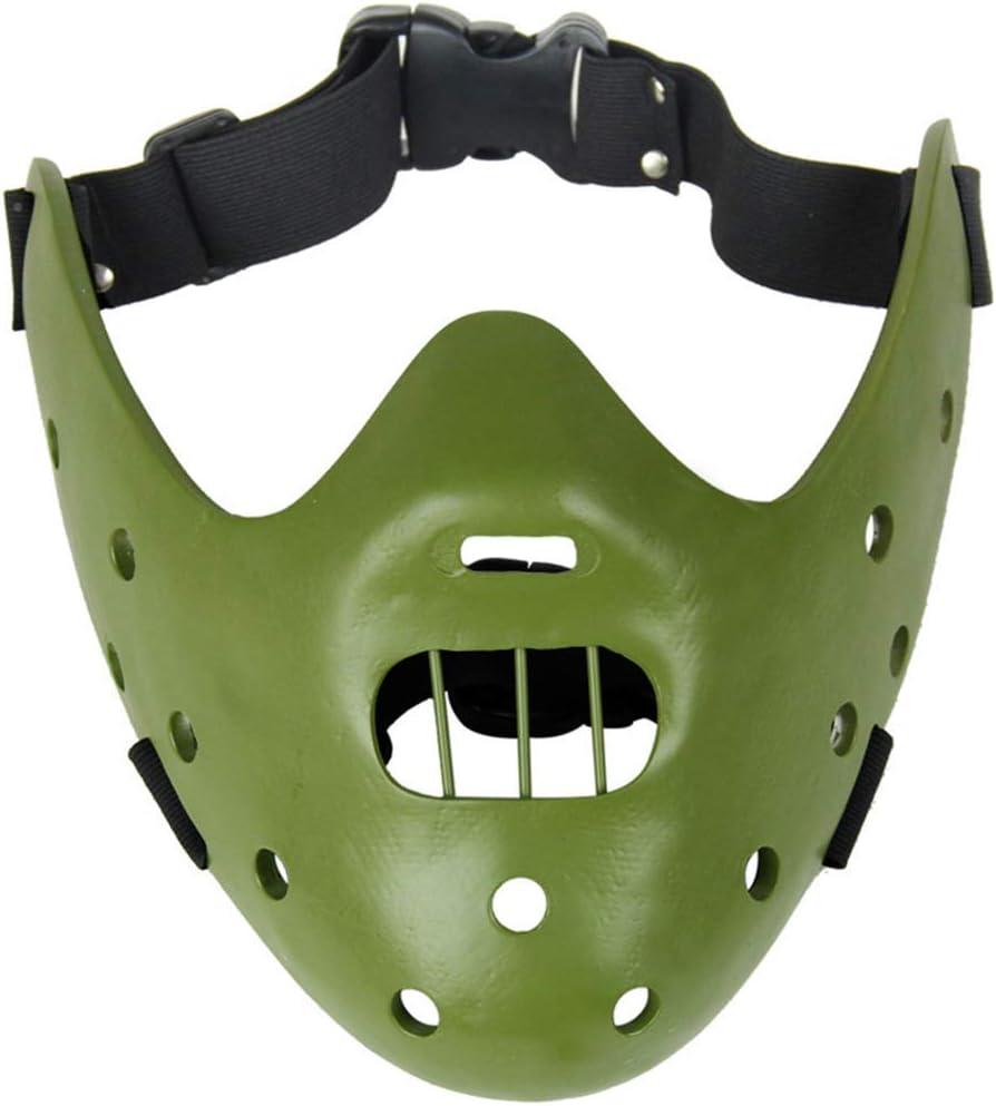 Máscara de la mascarada de Cosplay El silencio de los corderos Máscaras Hannibal Lecter resina (Verde): Amazon.es: Juguetes y juegos