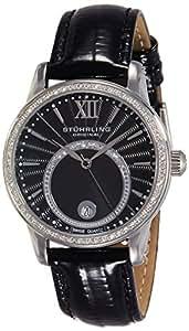 Stuhrling Original Stuhrling Women'S Black Dial Leather Band Watch - 544.11151