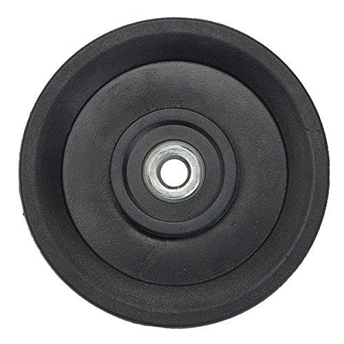 EsportsMJJ 4.5 Nylon Bearing Pulley Wheel 115mm Black Wheel Cable Gym Fitness Equipment Part