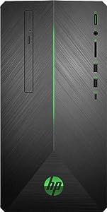 2020 HP Pavilion Gaming Desktop | AMD 2nd Gen Ryzen 5 | 16GB RAM| 128GB SSD + 1TB HDD | AMD Radeon RX 580 | WiFi | USB-C | DVD-RW | GbE LAN | Windows 10 | Include Mouse and Keyboard |