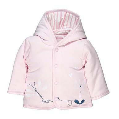 47983fc8eb Boboli Baby Mädchen Wende-Jacke mit Kapuze rosa Gr. 56-92 74: Amazon ...