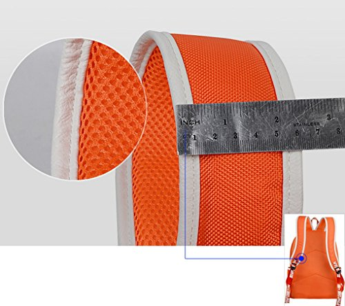 Panegy Unisex Fashion Canvas Rucksack Sporttasche Shultertasche Laptoptasche Schultasche für Reisen Outdoor Sport Uni Schule - Orange