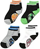 Stride Rite Boy's 4 Pack Camo Sportsball Quarter Socks