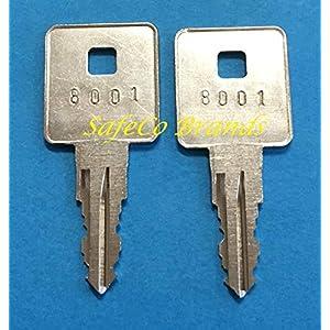 2-Keys for Craftsman, Sears, Kobalt & Husky Tool Boxes. Key Code Series 8001 Thru 8225. SafeCo Brands (8004)