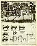 1924 Print Looping Rod Mill Plant Billet Grooves Industrial Heating Furnace - Original Halftone Print