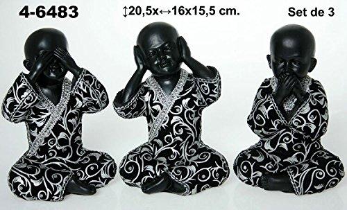 DONREGALOWEB Set de 3 Figuras de Resina de niños Buda en ...