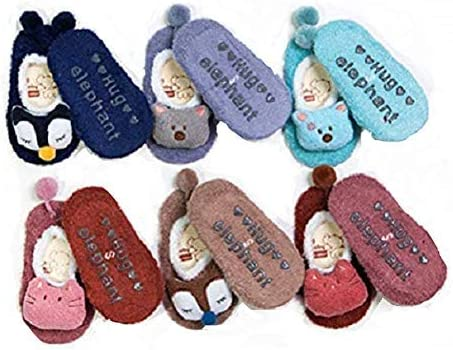 Araus sokken voor pasgeborenen unisex voor kinderen antislip van katoen warm 6 paar 05 jaar