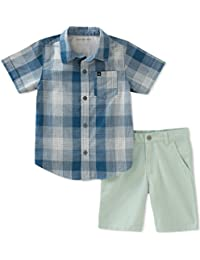 Baby Boys' 2 Pieces Shirt Shorts Set