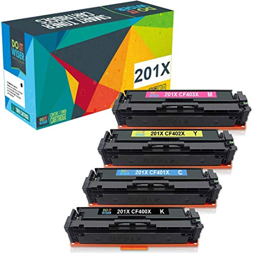 Do it Wiser Compatible Toner Cartridge Replacement for HP 201A 201X CF400X CF400A HP M277dw M252dw HP Color Laserjet Pro MFP M277dw M277n M277c6 M277 M252 M252n M252dw CF401X CF402X CF403X (4-Pack)
