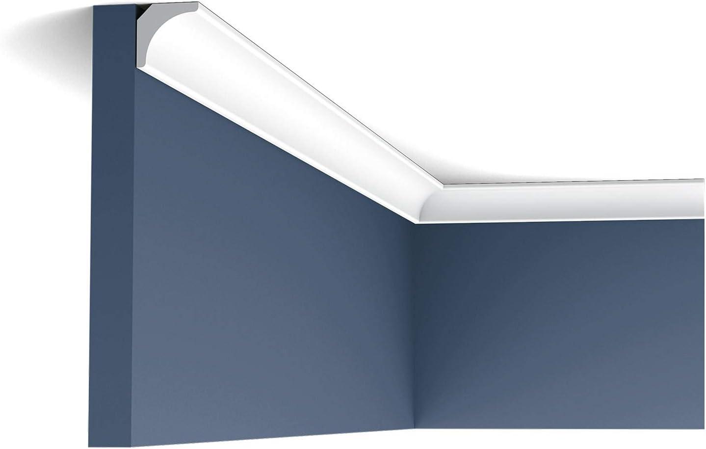 1-7//8 Proj Orac Decor Crown Moulding CX124 Primed Polyurethane Face 78-3//4 H 2-5//8 L 1-7//8
