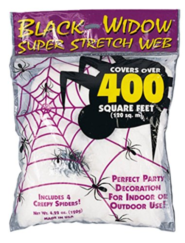 Fun World Super Stretch Spider Web For Indoor/Outdoor Use, 4.22 (Super Creepy Halloween Costumes)