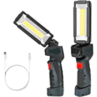 Coquimbo Linterna Taller Led Recargable, Talla Grande 360°Rotate 5 Modos lámpara de Inspección, LED Portátil Linterna…