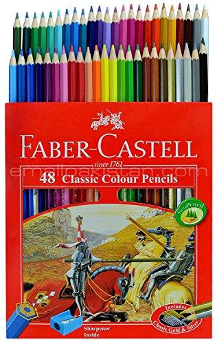 مجموعه طراحی فابر کاستل با 48 مداد رنگی در یک جعبه فلزی |