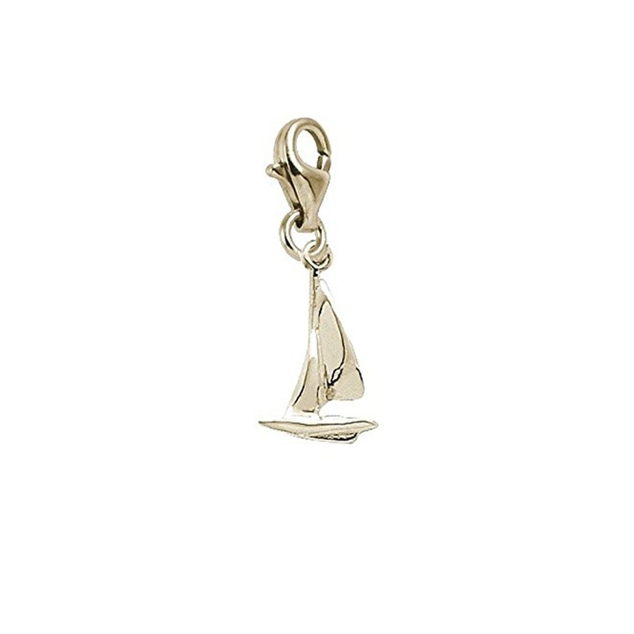 Charms for Bracelets and Necklaces Sailboat Charm With Lobster Claw Clasp