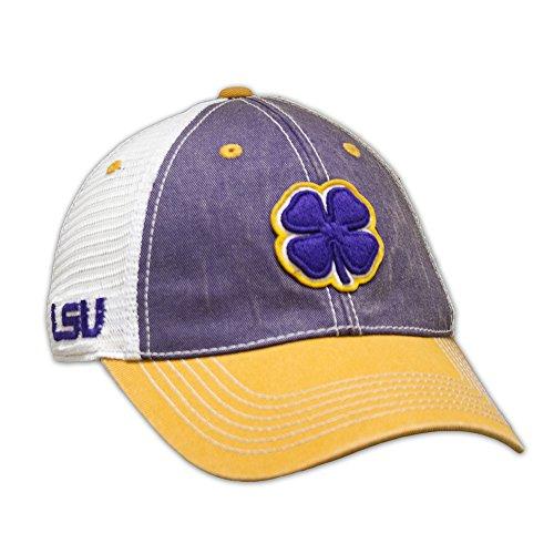 Black Clover Purple/White/Gold LSU 2-Tone Vintage Snapback Hat