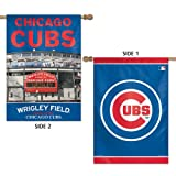 "MLB Chicago Cubs 47760013 2 Sided Vertical Flag, 28"" x 40"""