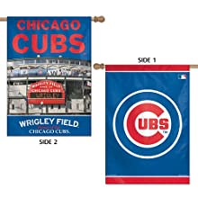 """MLB Chicago Cubs 47760013 2 Sided Vertical Flag, 28"""" x 40"""""""
