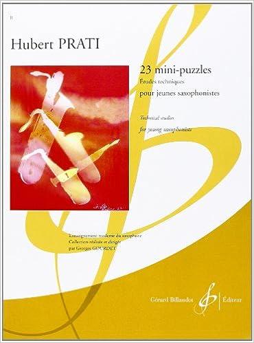 23 Mini Puzzles - Études Techniques pour Jeunes Saxophonistes