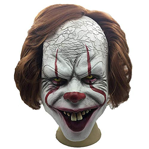 Horror Clown Joker Stephen Latex Costume Mask Scary Halloween Cosplay Party Decoration Props
