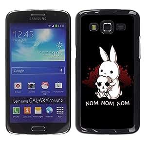 TopCaseStore / la caja del caucho duro de la cubierta de protección de la piel - Nom Nom Nom Funny Killer Rabbit - Samsung Galaxy Grand 2 SM-G7102 SM-G7105
